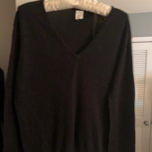 J. Crew silk and cashmere V-neck sweater, M